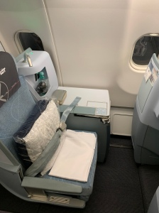 Business class seat in LOT airlines