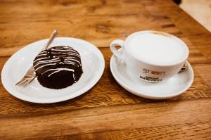 Cappuccino and fondant
