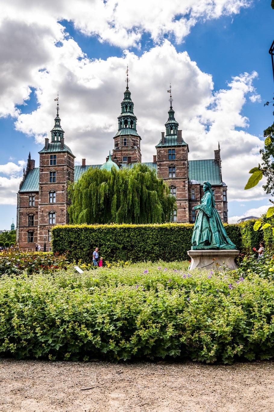 Green Spaces  Near Rosenborg Castle in Copenhagen